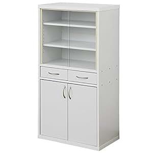 山善(YAMAZEN) 食器棚 カップボード(高さ120) ホワイト CRAF-1260CB(WH)