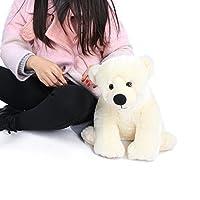 """愛らしい20""""ホワイトPolar Bear Cub Stuffed Plush ToyからJoyfay"""