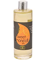 天然100% キャリアオイル アロマ ベースオイル化粧品グレード手作り化粧品材料無添加/無農薬 アーモンド オイル スウィート Sweet Almond Oil (India) - 100ml