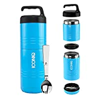 (Stack Pack Ocean Blue) - ICONIQ Qore Stackable Stainless Steel Insulated Food Jar (Stack Pack Ocean Blue)