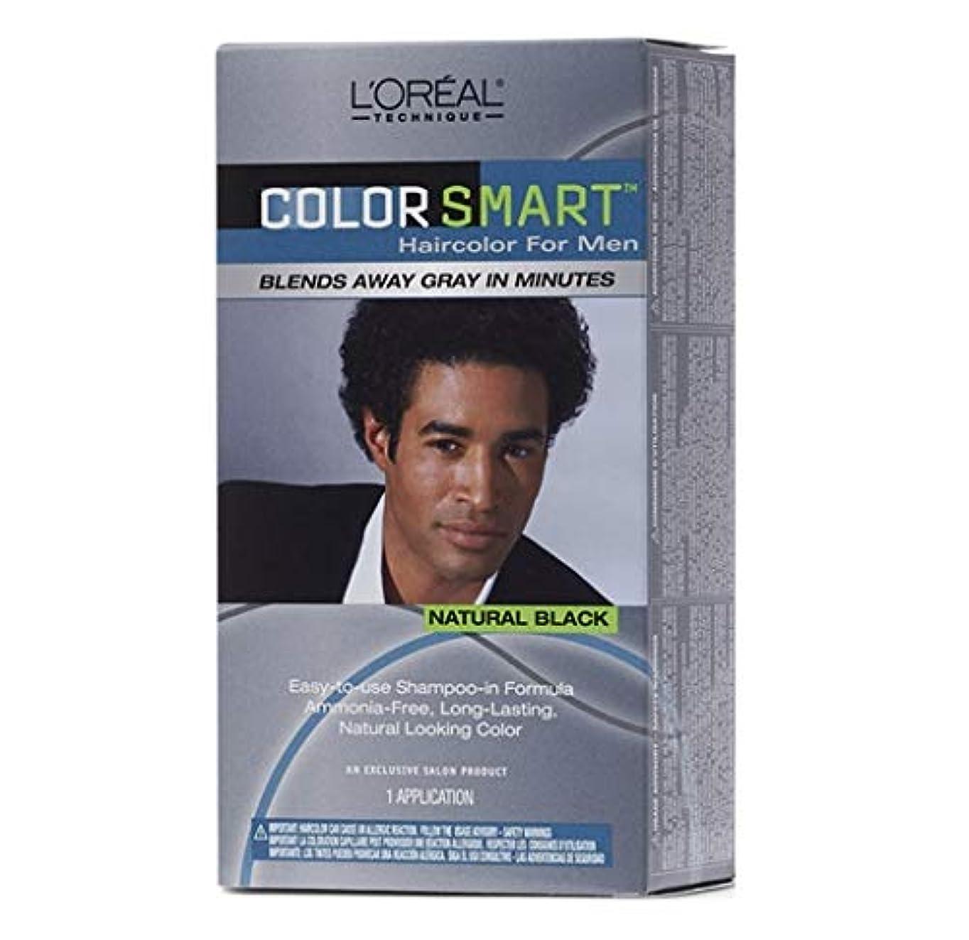 人工的な矛盾呼ぶL'Oreal Technique - Color Smart for Men - Natural Black KIT