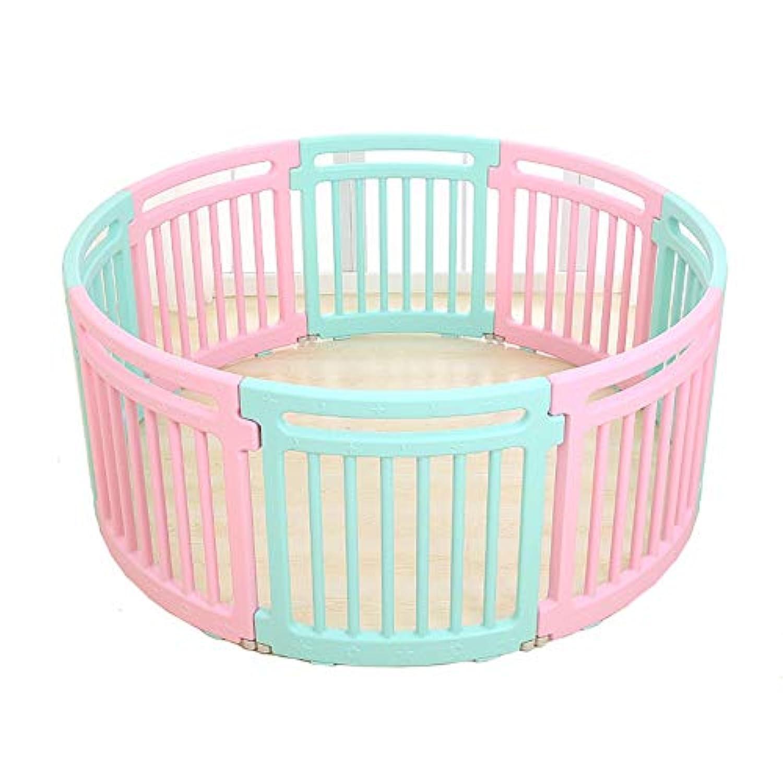 BSNOWF-ベビーサークル 赤ちゃんのPlaypens、幼児、屋内屋外の子供の安全ゲームのフェンス、8パネルのためのプラスチック製の滑り止め非毒性の再生ヤード (色 : マルチカラー まるちから゜)