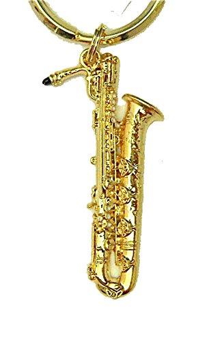 セルマーパリ マークVI バリトン サックス(サキソフォン) キーホルダー ゴールド Selmer (Paris) Mark VI Baritone Saxophone Gold Keychain