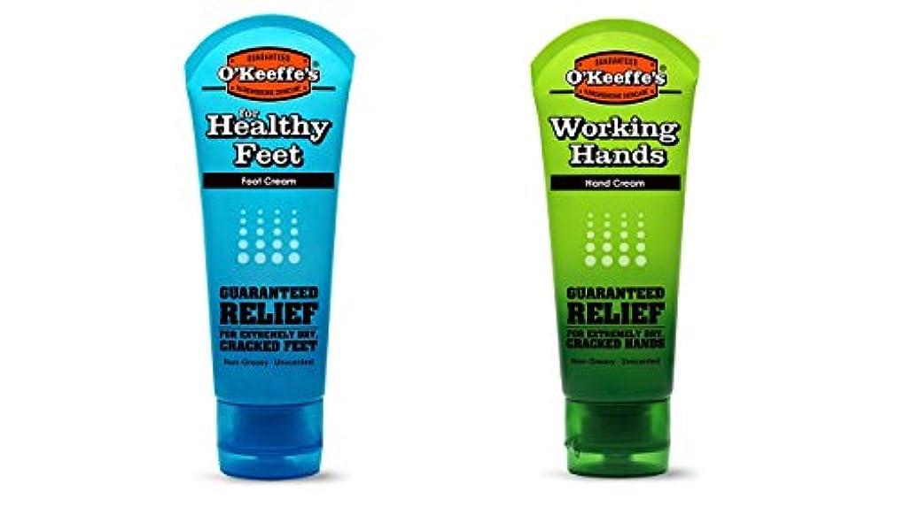 浸透するエロチックリテラシーオキーフス ワーキングハンドクリーム &フィートクリームチューブ  85g 各1(合計2点)(並行輸入品) O'Keeffe's Working Hand & Feet Tube Cream 3oz 1 each