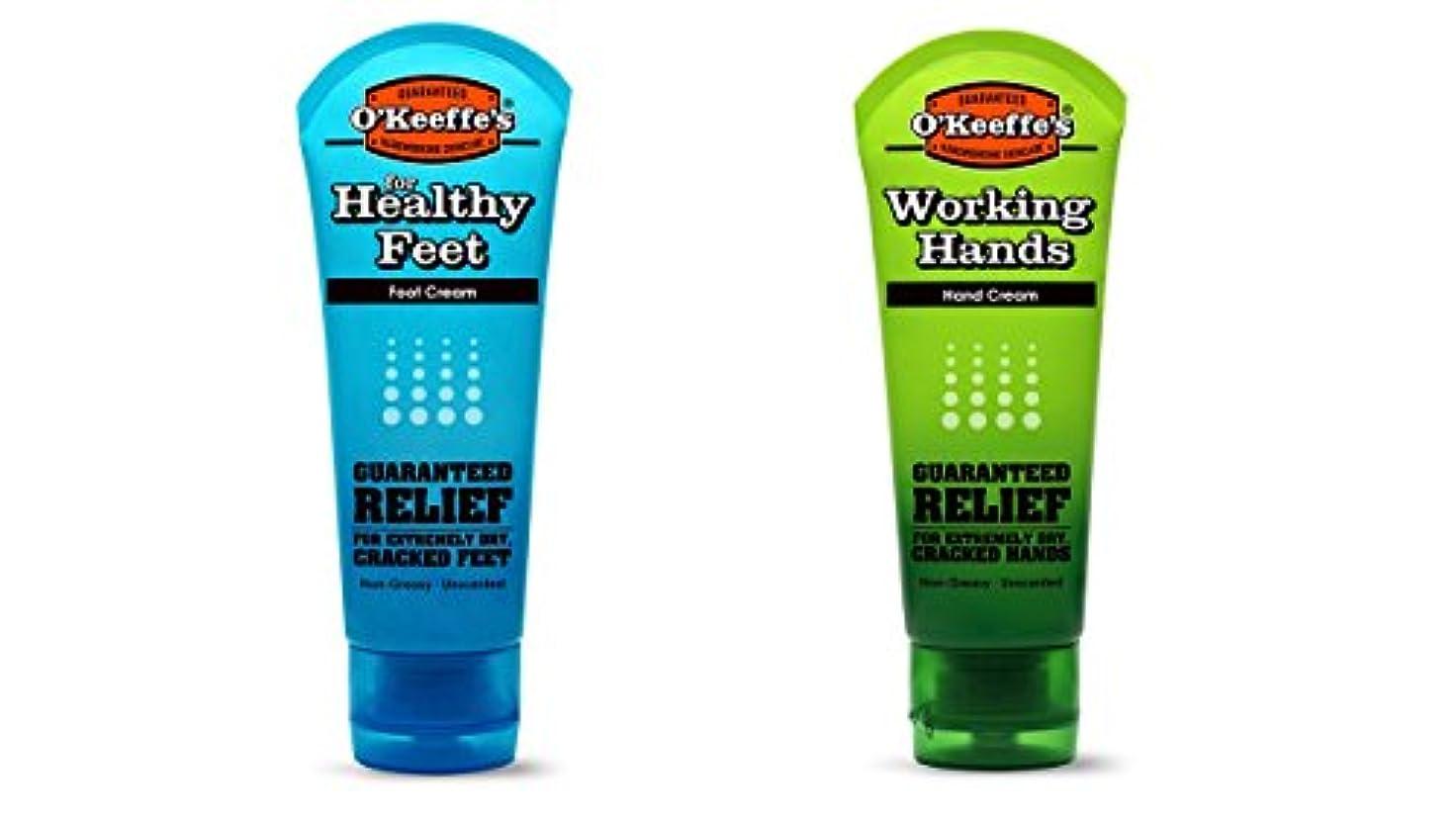 母音おもてなし前売オキーフス ワーキングハンドクリーム &フィートクリームチューブ  85g 各1(合計2点)(並行輸入品) O'Keeffe's Working Hand & Feet Tube Cream 3oz 1 each