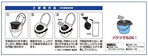『小久保 緊急簡易トイレ 凝固剤入10回分入 KM-012』の2枚目の画像