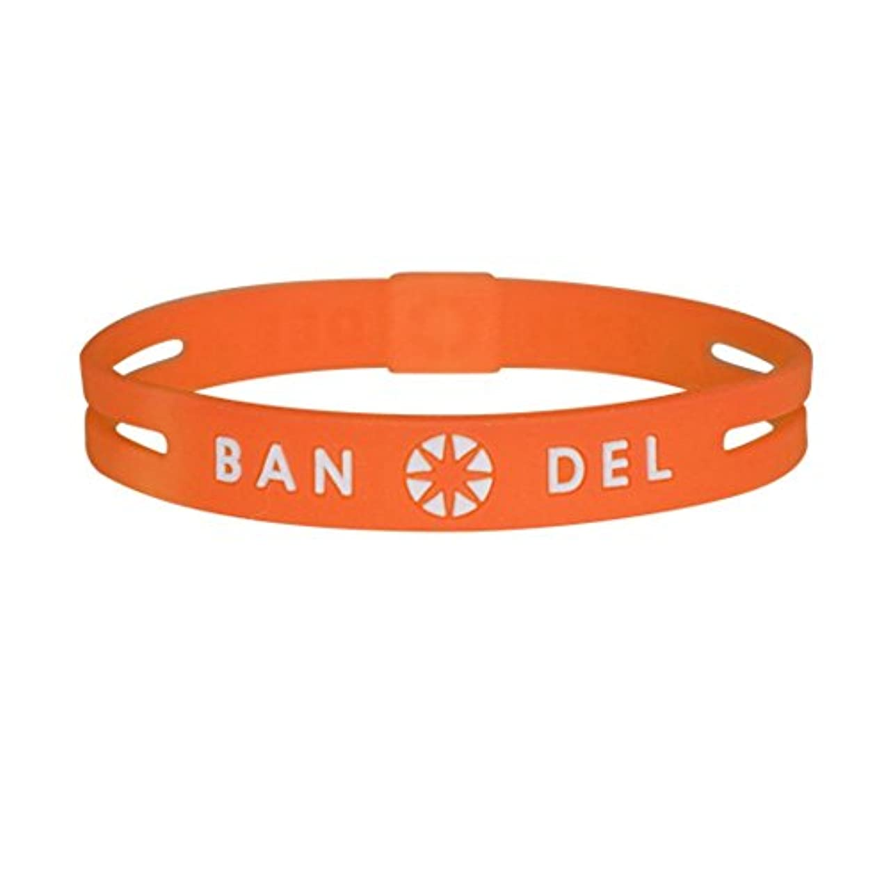 ロイヤリティ妨げるバッジ[バンデル?BANDEL]ストリング ブレスレット 正規品 (オレンジ×ホワイト)Sサイズ