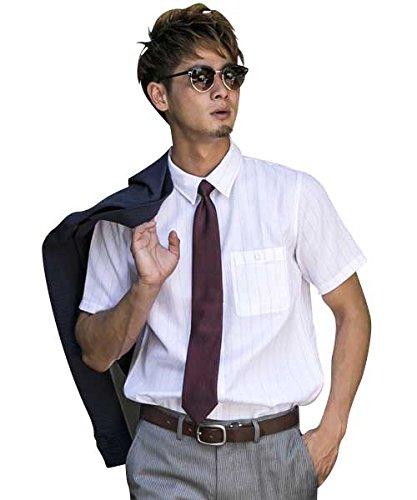 (アドミックス アトリエサブメン) ADMIX ATELIER SAB MEN メンズ シャツ 半袖 綿麻ワッフルストライプ半袖レギュラーシャツ 02-04-8595 50(L) ピンク(35)