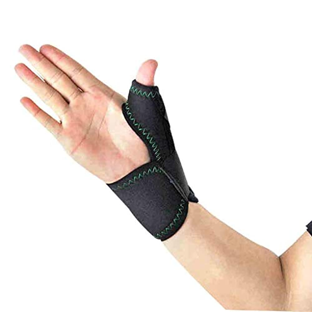 プライバシーストローク再撮りThumbブレースは、手首のストラップでトリガーThumbガードのThumbのスプリントをラップします。ブレースThumbのスプリント、Thumbの関節炎の痛みを軽減するブレース(1個、ユニセックス、左&右手、M) Roscloud@