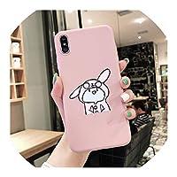 iPhone 7 XS MAX XR X 6 6 s 8 Plusアニマル柄ソフトマット電話シェルCoque、iphone 6 6 s、スタイル1のための面白い恐竜ウサギカップルケースカバー