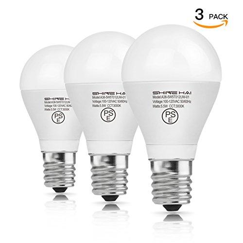 SH LED電球 E17口金 60W形相当(5.5W) 3000K 電球色 広配光タイプ 密閉形器具対応 LED 電球 e17 省エネ90% 3個入