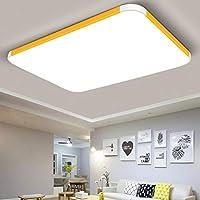 LEDシーリングライト32W / 72W防水・調光対応不可、白色光、室内照明器具、キッチン、ベッドルーム、廊下、廊下、バルコニー、リビングルーム, yellow 32W