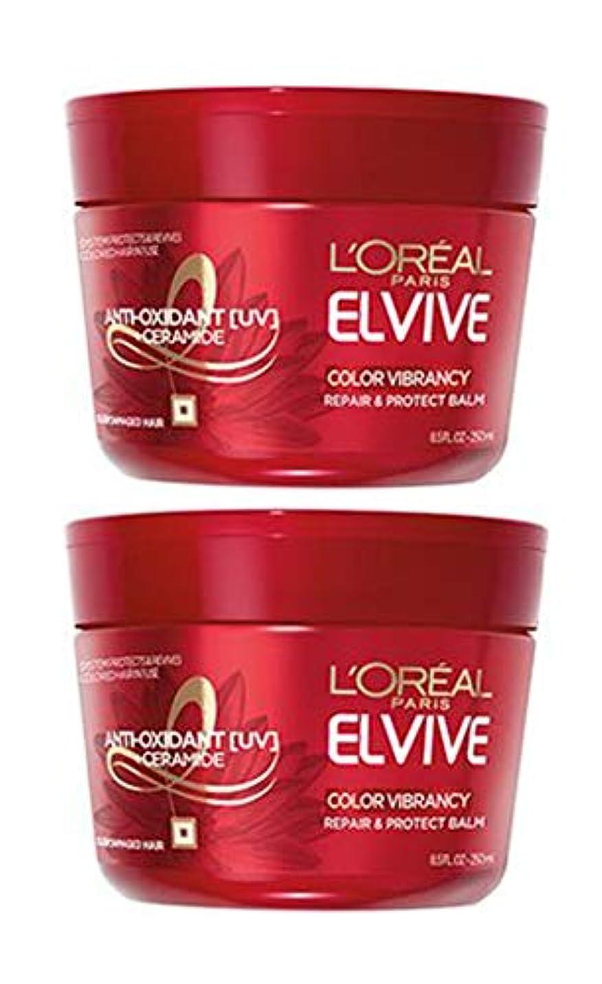 ニュージーランドクック下手L'Oreal Paris ロレアルパリ髪の専門家の色ヴァイブランインテンシブ超回復マスク、8.5オンス(2パック) 8.5 FL。オンス(2パック)