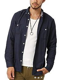 (アーケード) ARCADE メンズ 長袖 シャツ 細身 タイト カジュアルシャツ ネルシャツ ネルチェックシャツ