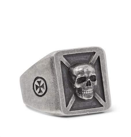(ヴェトモン) Vetements Burnished 磨かれたシルバートーンリング Silver Tone Ring (並行輸入品)