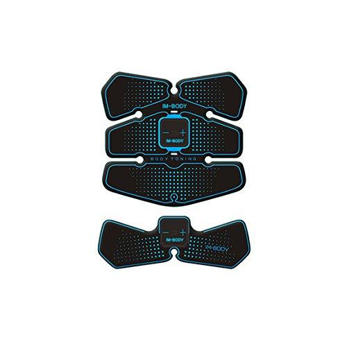 EMS筋トレ フィットネスマシン ダイエット 腹筋 振動マシン 自動的に筋肉鍛錬 マシーン 筋肉刺激 マッサージ スポーツ 健康機械 (USB*2+Cable*2)