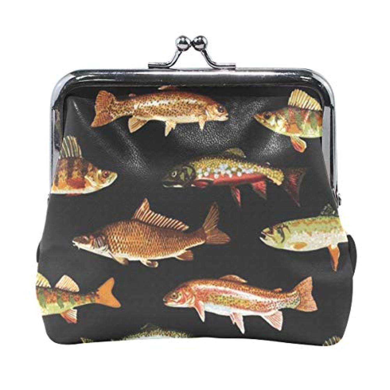 がま口 小銭入れ 財布 魚 コインケース レザー製 丸形 軽量 人気 おしゃれ プレゼント ギフト 雑貨