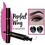 Original Eyeliner Stamp by LA PURE (2 Pens) - 2 double-sided pens, winged liquid eyeliner stamp & pencil, Vamp style wing, smudgeproof, waterproof, long-lasting, No Dripping (10mm, Black/Gold Box) (10mm, Black/Gold Box)