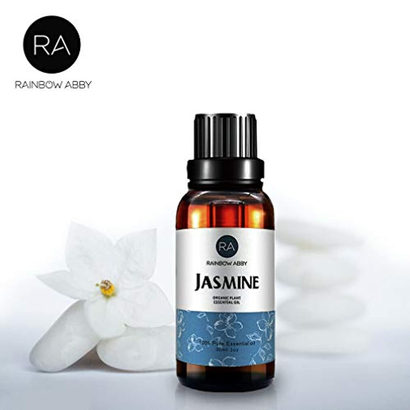 RAINBOW ABBY ジャスミン エッセンシャル オイル ディフューザー アロマ セラピー オイル (30ML/1oz) 100% ピュアオーガニック 植物 エキス オイル