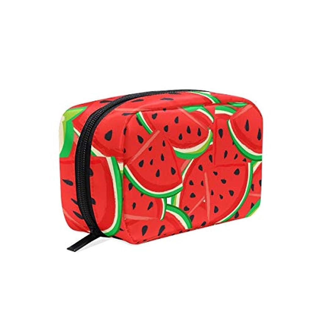 富豪カバレッジ矩形UOOYA おしゃれ 化粧ポーチ スイカ フルーツ柄 Watermelon 軽量 持ち歩き メイクポーチ 人気 小物入れ 収納バッグ 通学 通勤 旅行用 プレゼント用