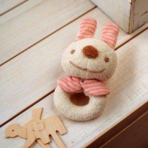 (ハマナカ) ベビー 赤ちゃん おもちゃ の 手作りキット がらがら うさぎ ※オーガニックコットン 使用