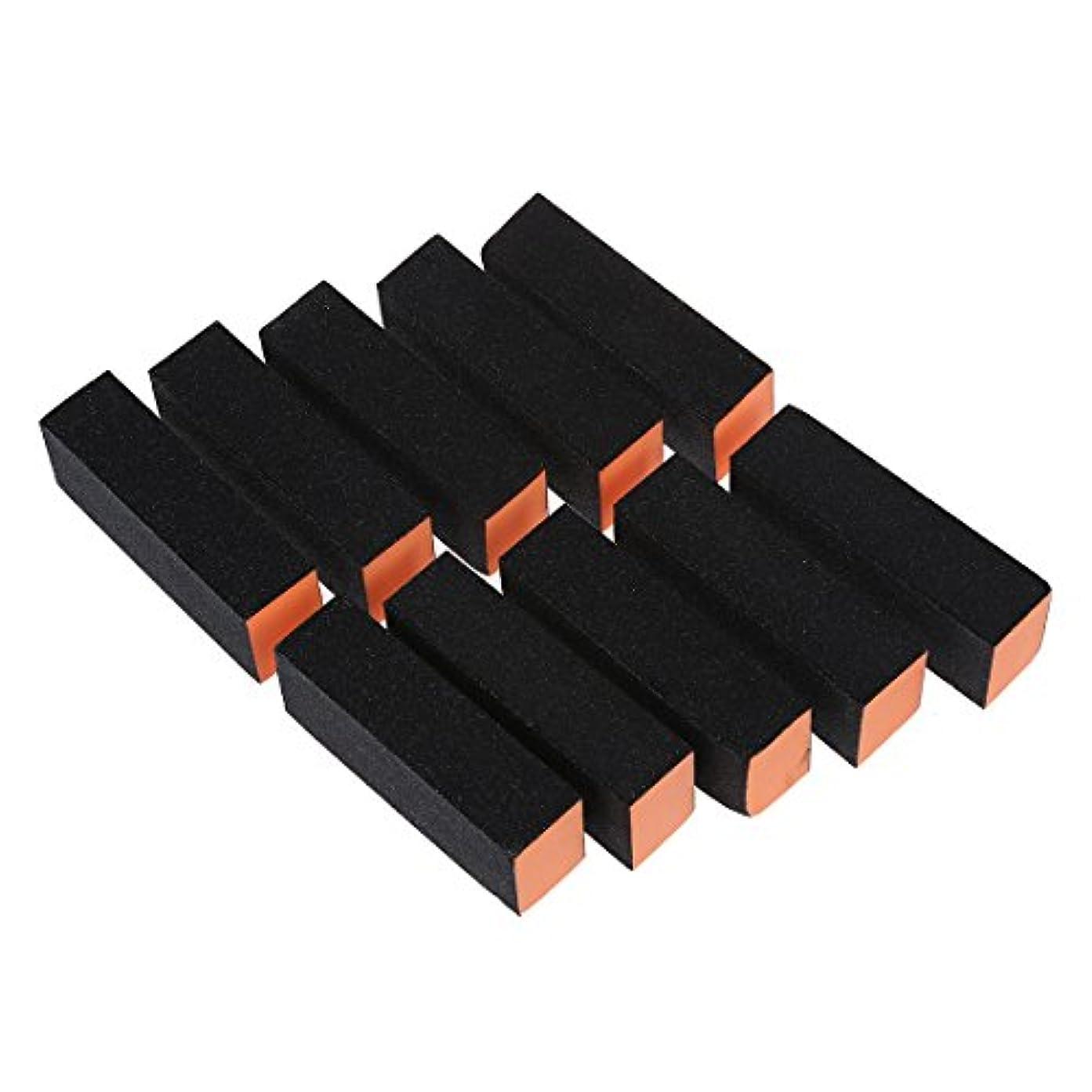 木実現可能性小さいNrpfell 10xネイルアートバッファ サンディングファイルブロック ペディキュアケアDIY
