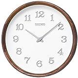セイコークロック 掛時計 天然色木地 直径280×59mm 電波 アナログ SEIKO EMBLEM KX239B