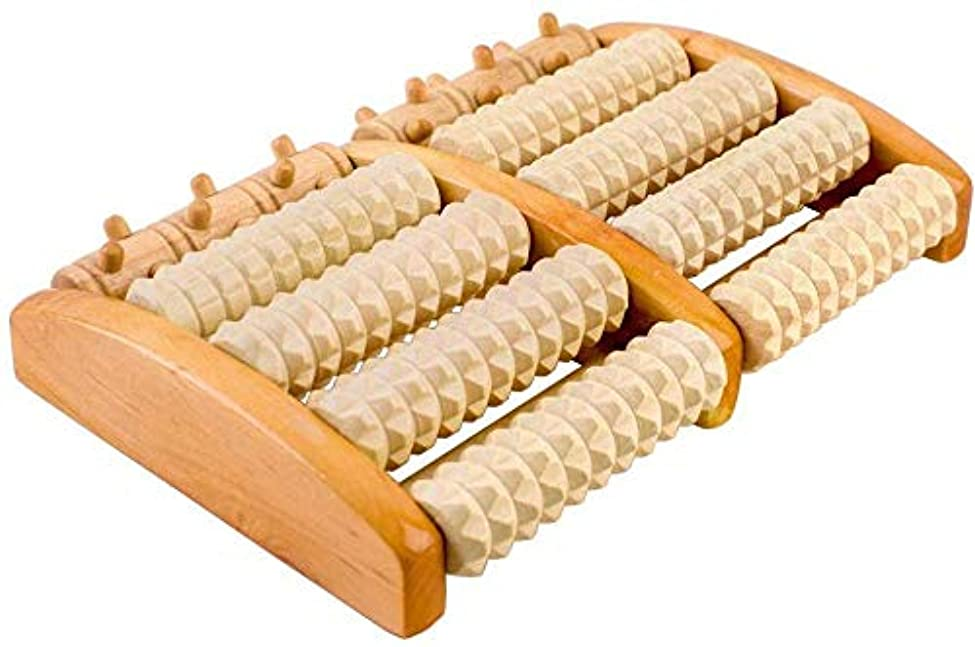 ピボット有罪しばしば木製ローラーフットマッサージャー、デュアル木製フットマッサージャー足底筋膜炎の痛みを軽減,Aaa