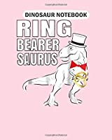 Dinosaur Notebook: boys ring bearer dinosaur rex wedding part  College Ruled - 50 sheets, 100 pages - 8 x 10 inches