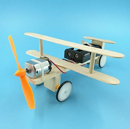 工作キット( 自由工作/自由研究 )子供から大人まで楽しめる! 科学 組立 簡単 手作り 工作 キット 宿題 課題にも! (飛行機)