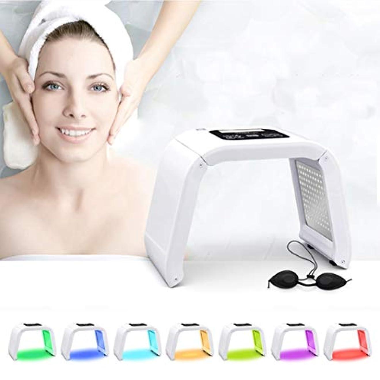 ポータルハシー甘味7色は、フォトンライトセラピー美容機治療スキンフェイシャルにきびリムーバー抗しわ肌の若返りLED機器を締めLED
