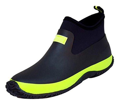 Katypeny(JP)レインシューズ雨靴防水防寒梅雨対策滑り止め履き心地よい男女兼用カップル普段にも使えるブラック・グリーン26.5cm