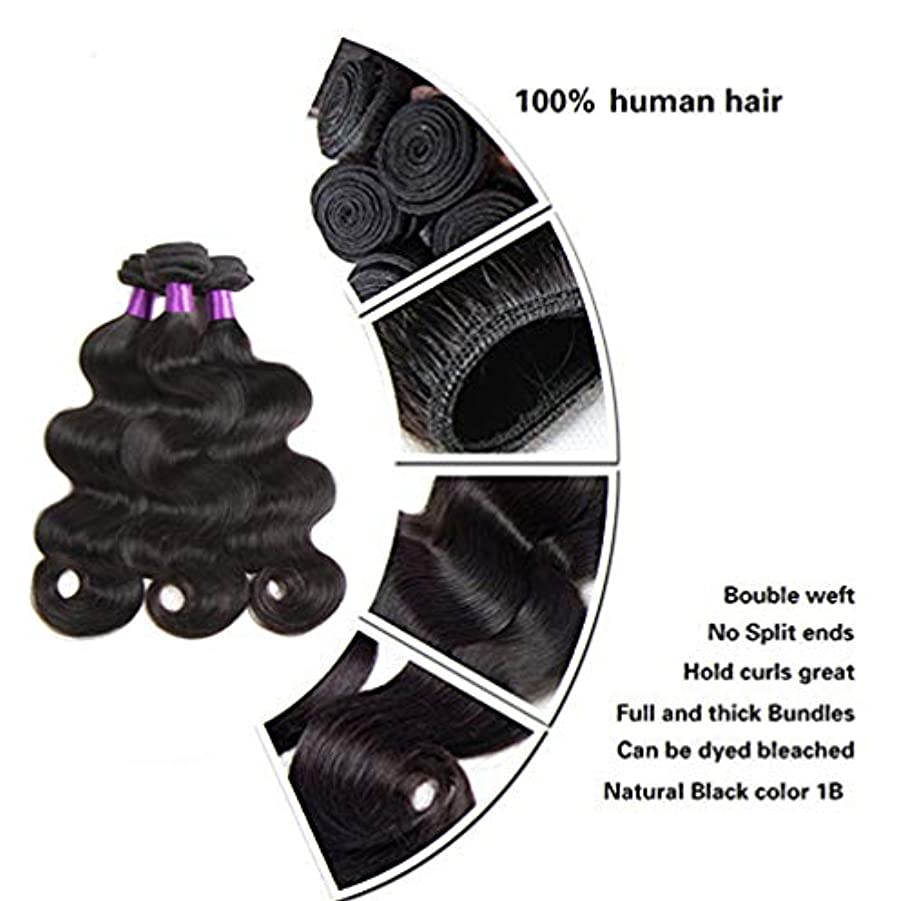 スポット道徳極端なブラジルの波の人間の毛髪の織り方の巻き毛のレミーのバージンの毛の束100%の未加工の実質の人間の毛髪の自然な色(3束)