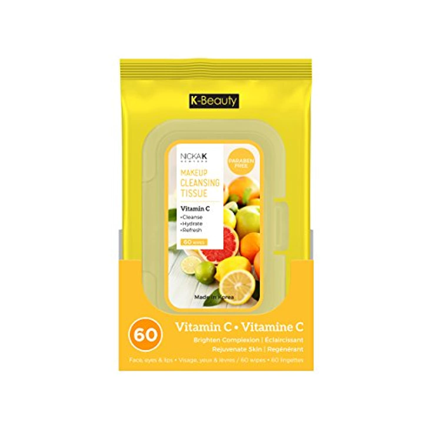 あごわなベックスNICKA K Make Up Cleansing Tissue - Vitamin C (並行輸入品)