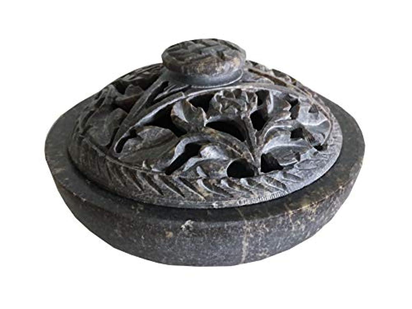 接続された受動的ワイヤーNaiソープストーン/ストーン香炉ボウル、ポット、Jarコーンの、スティック、Resinsまたはcharcoal-flowerパターンj825