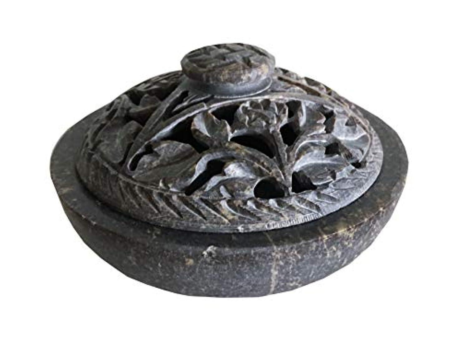 輪郭悲しいことに恐れNaiソープストーン/ストーン香炉ボウル、ポット、Jarコーンの、スティック、Resinsまたはcharcoal-flowerパターンj825