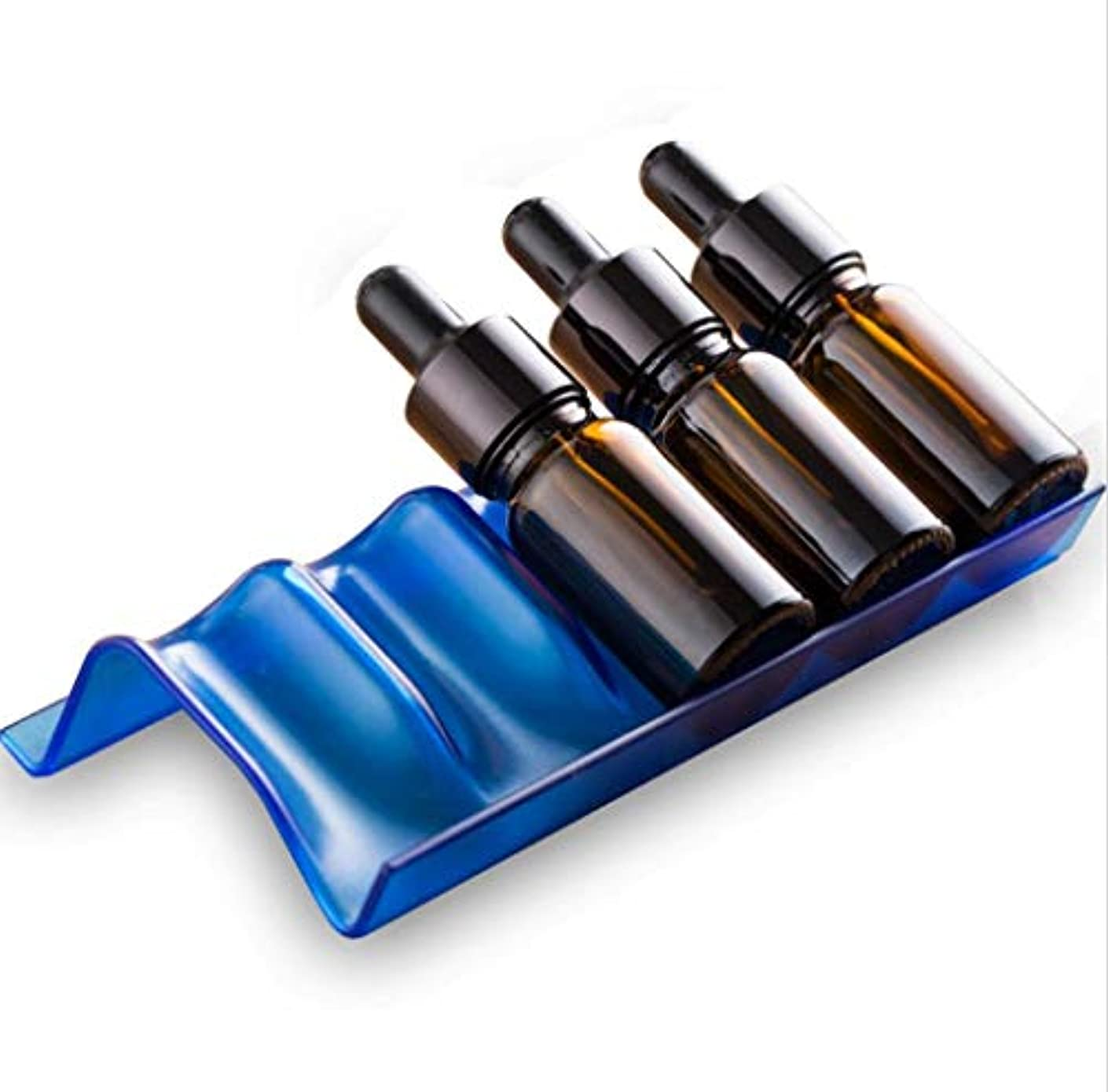 リング隣接曖昧なYONIK エッセンシャルオイル収納ラック 精油 ディスプレイ スタンド 香水収納 展示スタンド (青, 3)