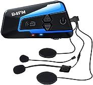 LX-B4FM バイク インカム 4riders 4人同時通話 FMラジ Bluetooth防水インターコ バイク用インカム スマホ音楽再生 Siri/S-voice IP67防水 無線機いんかむヘルメット用インカム 連