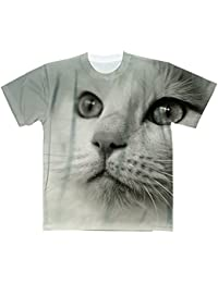猫【フルグラフィックTシャツ】 カジュアル フルカラー ドライ素材 格安