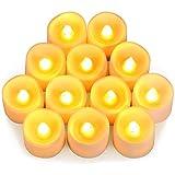 AMIR LED キャンドルライト イルミネーション 無煙蝋燭 電池付き 暖色光 雰囲気を作る 室内飾り 12個セット