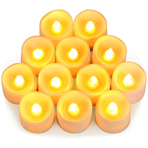 RoomClip商品情報 - AMIR LED キャンドルライト イルミネーション 無煙蝋燭 電池付き 暖色光 雰囲気を作る 室内飾り 12個セット
