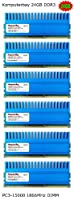 Komputerbay 24GB ( 6x 4GB ) ddr3DIMM ( 240ピン) 1866MHz pc3–14900pc3–1500024GBキットCL 9–11–9-29withクラウンシリーズHeatspreaders for extra冷却