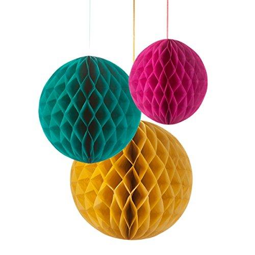 【Talking Tables】Honey Comb Ballハニカムボール 3個セットFloralFiesta