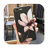11プロ高級3DシリコンケースiPhone 6 7 6 s 8プラス5 s SE X XS MAX XR耐衝撃性の花電話ケースiPhone 6 7ケースガール-Flower 01-For iPhone 8