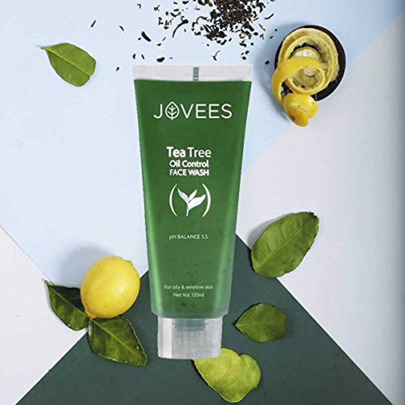 からに変化する治すピーブJovees Tea Tree Oil Control Face Wash 120ml Best for oily & sensitive skin control acne ティーツリーオイルコントロールフェイスウォッシュ...
