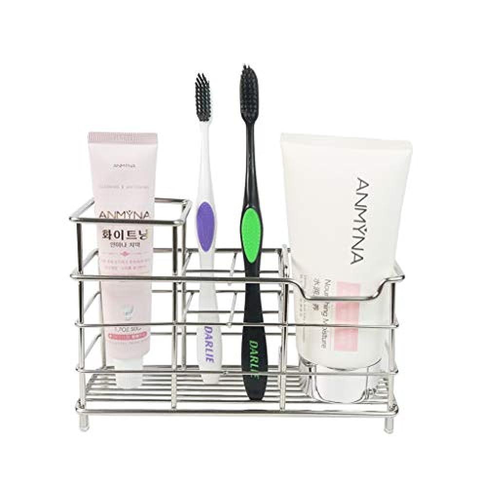 期待してベッドヨーグルトKeonjinn 歯ブラシスタンド 置き型 電動歯ブラシ置き 防錆、大容量 304ステンレス製 洗面所 収納 (サイズ A)