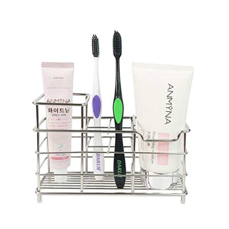 どこにも受け取る行商Keonjinn 歯ブラシスタンド 置き型 電動歯ブラシ置き 防錆、大容量 304ステンレス製 洗面所 収納 (サイズ A)