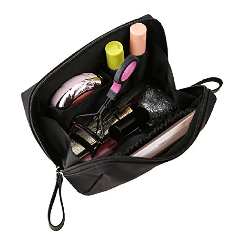 KLU 化粧ポーチ かわいい コンパクトサイズ 持ち運び便利 仕切り 仕分け収納 小物入れ 軽量 トラベルポーチ