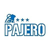 ミリタリー PAJERO パジェロ カッティング ステッカー ブルー 青