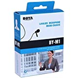 BOYA by M1 Lavalier Microphone for Smartphones Canon Nikon DSLR Cameras Camcorders Audio Recorder PC